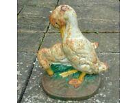 Mid 20th century cast iron ducks