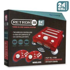 Hyperkin RetroN 3 Gaming Console Nintendo snes sega games