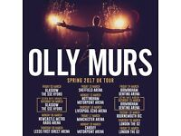2 x standing tickets Olly Murs Thursday 16th March Echo Arena, Liverpool