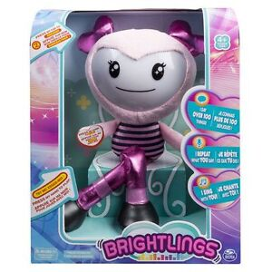 "NEW: Brightlings Interactive Singing Pink Talking 15"" Plush"