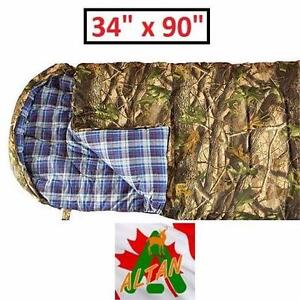 "NEW ALTAN HUNTER VOYAGE XTREME SLEEPING BAG -10 DEGREE CELSIUS - CAMO - 34"" x 90"" SLEEPING BAG CAMPING OUTDOORS 84476921"