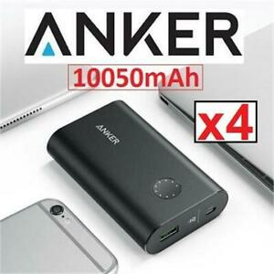 4 RFB ANKER  PORTABLE CHARGER AK-A1311011 237847499 10050maH BATTERY PREMIUM ALUMINUM QUICK CHARGE 3.0 REFURBISHED