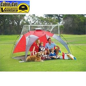 "NEW VENTURA CANOPY TENT RED - FLOOR SIZE: 94.5""X94.5"" BEACH UMPRELLA OUTDOORS SHELTER"