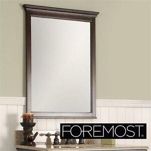 "NEW FOREMOST WALL MIRROR 31""x24"" MAHOGANY home decor decoration hall bedroom bathroom  83609533"