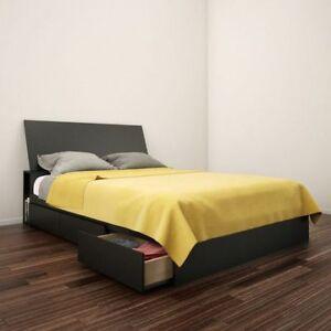 Miscellaneous furniture, bed, office desk, shelves