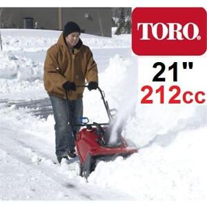 "NEW TORO GAS SNOW BLOWER 38742 147315823 POWER CLEAR SINGLE STAGE BLOWER WITH 21"" CLEARING WIDTH - SNOW THROWER REMOVAL"