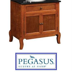 "NEW PEGASUS 30"" VANITY CABINET MAHOGANY FINISH CABINET ONLY - FOLDING ASSEMBLY - BATHROOM FURNITURE DECOR  79141672"
