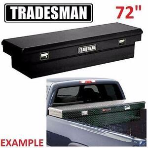 "NEW* TRADESMAN TRUCK TOOL BOX 72"" CROSS BED - BLACK TOOLS STORAGE CARGO TRUCKBOXES 96764033"