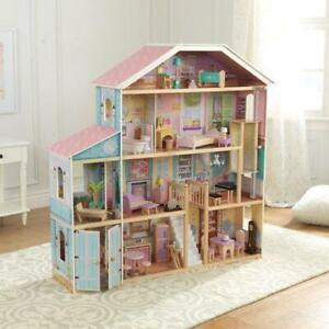 KidKraft 65954 EZ Assembly Grand View Mansion Dollhouse (Open Box)