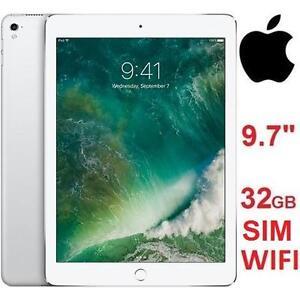 "NEW APPLE IPAD PRO 32GB TABLET - 111241139 - 9.7"" - WIFI + CELLULAR SILVER UNLOCKED"
