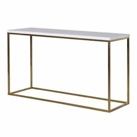 Gloss White Top Console Table