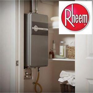 NEW RHEEM TANKLESS WATER HEATER 9.5 GPM Natural Gas Mid Efficiency Indoor HOME PLUMBING 80280269