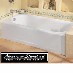NEW AS PRINCETON 5' LEFT DRAIN TUB AMERICAN STANDARD LEFT DRAIN WHITE - BATH TUB BATHTUB SOAKING TUB BATHROOM   82768611