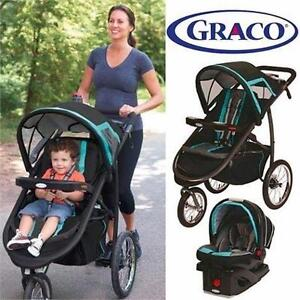 NEW GRACO FA TRAVEL SYSTEM   FAST ACTION CLICK CONNECT JOGGING STROLLER/CAR SEAT - BABY - KIDS - TRAVEL 98649149