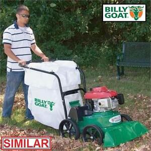 NEW* BILLYGOAT LAWN LEAF VACUUM - 123340672 - 190 cc GAS POWERED GASOLINE MESH BAG DUST SKIRT LITTER LEAVES VACUUMS P...