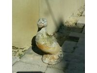 Stone Duck Garden Ornament