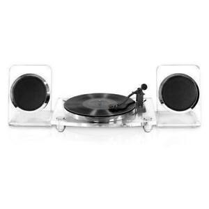 Innovative Technology Victrola Acrylic Bluetooth 40 Watt Record