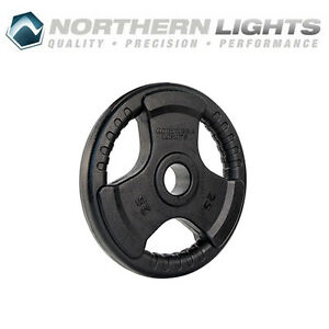 Northern Lights Olympic Rubber Coated Weight Plate, 25lbs WPOR25
