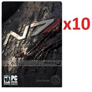 NEW 10 MASS EFFECT 2 CE PC GAMES 220519133 FOR PC COMPUTER VIDEO GAME EDITION ELECTRONIC ARTS EA 1 CASE OF 10 GAMES