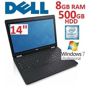 RFB DELL LATITUDE E5470 i7-6820HQ 8V22N 174559927 NOTEBOOK 500GB 8GB RAM WIN7 PRO LAPTOP PC  COMPUTER REFURBISHED