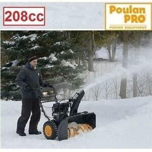 "NEW* POULAN PRO 208cc SNOW BLOWER PR242 220116359 24"" CLEARING WIDTH GAS SNOWBLOWER ELECTRIC START HANDLEBAR WARMERS"