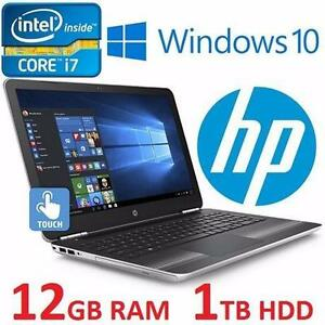 "REFURB HP PAVILION 15 GAMING LAPTOP i7-6500U 12GB RAM 1TB NVIDIA NOTEBOOK PC COMPUTER TOUCHSCREEN 15.6"" DISPLAY 98425705"