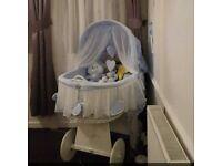 Babys wicker crib