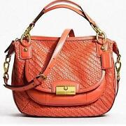 Coach Kristin Woven Leather
