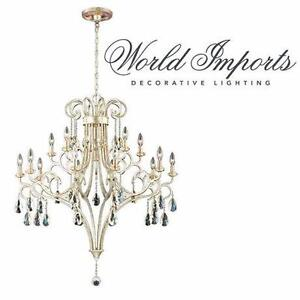 NEW* WORLD IMPORTS CHANDELIER 15 LIGHT - CARUSO - HOME DECORATION CEILING LIGHT FIXTURE INDOOR CEILING LIGHTING 99546137