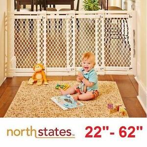 NEW NORTH STATES EXTRA WIDE GATE   BABY GATE - IVORY - BABIES SAFETY GATES DIVIDER DIVIDERS BLOCKERS SECURITY 98844647
