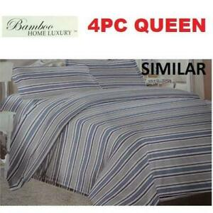 NEW BAMBOO 4PC BED SHEET SET QUEEN 1122K 238765145 HOME LUXURY 9500 QUEEN THREAD COUNTS WRINKLE FREE BEDDING BEDROOM ...