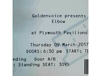 Elbow concert tickets (2) Plymouth