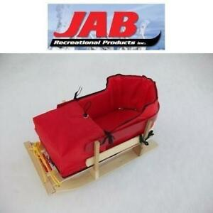 NEW JAB SLEIGH SLED W/ CUSHION BH-100 220259917 EUROSLED ST. NICK PRANCER OUTDOOR KIDS WINTER