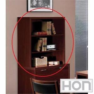 """NEW* HON VALIDO BOOKCASE HUTCH 37.5"""" x 36"""" x 14.5"""" - MAHOGANY FINISH - FURNITURE DECOR BOOKCASES HUTCHES ROOM  82168064"""