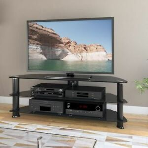 """CorLiving Laguna Satin Black TV Stand, for TV's up to 60"""" New"""