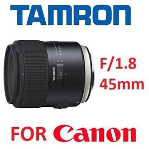 NEW TAMRON SP 45mm CANON LENS F013E 189416721 F/1.8 DI VC USD FOR CANON EF CAMERAS