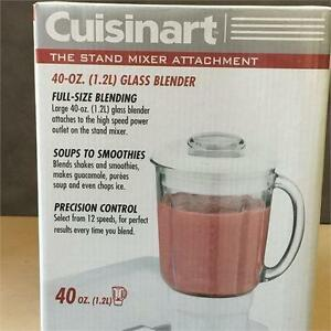 NEW, Cuisinart SM-BL 40 Oz Blender Attachment - Fits SM-55C & SM-70C Stand Mixer