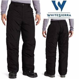 "NEW W SIERRA SNOW PANTS MEN'S XXL   BLACK - WHITE SIERRA - 32"" INSEAM INSULATED OUTDOOR WARM  84050041"