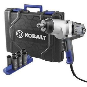 NEW KOBALT IMPACT WRENCH KIT 8-Amp 1/2-in Reversible Corded Impact Wrench Kit Home > Tools > Power