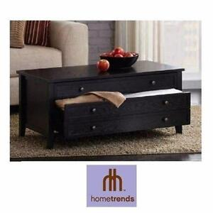 NEW HOMETRENDS COFFEE TABLE WITH TWO DRAWERS Furniture LIVING ROOM   90715070