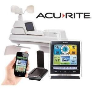 NEW ACURITE COLOUR WEATHER STATION 01057RM 186301408 ENVIRONMENT SYSTEM DISPLAY REMOTE MONITOR PHONE NOT INCLUDED