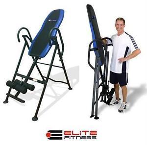 NEW OB EF DELUXE INVERSION TABLE ELITE FITNESS - FULLY PADDED home > fitness exercise strengthening
