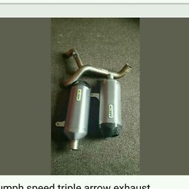 Triumph speed triple arrow exhaust