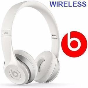 NEW BEATS SOLO2 WIRELESS HEADPHONES   SOLO 2 - ON EAR WIRELESS - WHITE ELECTRONICS AUDIO ENTERTAINMENT MUSIC 97489147