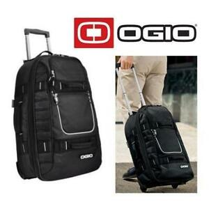 NEW OGIO PULL THROUGH TRAVEL BAG 611024 244053370 ROLLING LUGGAGE SUITCASE BLACK ONE SIZE FITS ALL APPROXIMATELY 22 ...