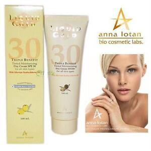 NEW ANNA LOTAN TINTED MOISTURIZER 100ML - LIQUID GOLD - TINTED - TRIPLE BENEFIT DAY CREAM - SPF30 - EXP. 02/2018