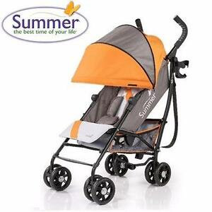 NEW SUMMER INFANT 3D ONE STROLLER   3D ONE CONVENIENCE STROLLER SOLAR ORANGE BABY CARRIER TRAVEL GEAR 98958562