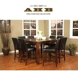 """NEW AH COUNTER HEIGHT DINING TABLE - 120771619 - AMERICAN HERITAGE 60"""" CAMEO COLLECTION BUTTERFLY LEAF SUEDE"""