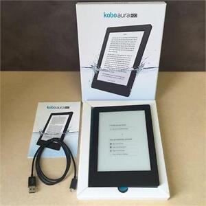 Kobo Aura H20 Waterproof E-Reader 4 GB 6.8in WIFI BLACK (Refurbished)