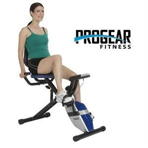 NEW PROGEAR COMPACT RECUMBENT BIKE WITH HEART PULSE SENSORS - BLACK - FITNESS SPORTS HEALTH EXERCISE EQUIPMENT 76413141